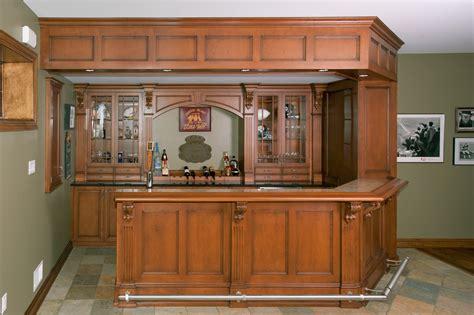 irish pub home bar custom cabinetry  ken leech