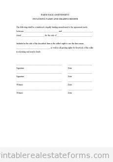 contract  sell  land contract printable real