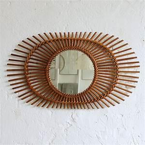 Petit Miroir Rotin : miroir rotin vintage soleil atelier du petit parc ~ Melissatoandfro.com Idées de Décoration