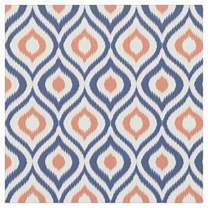 ikat navy and coral fabric zazzle With ikat fabric coral
