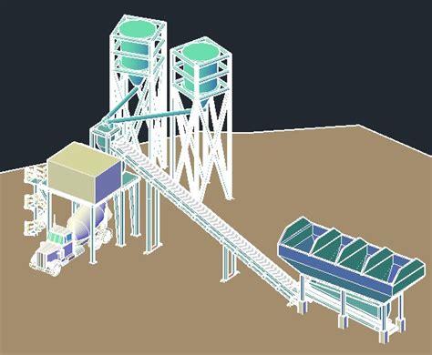 concrete batch plant  autocad cad   mb