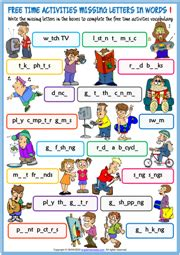time activities esl vocabulary worksheets