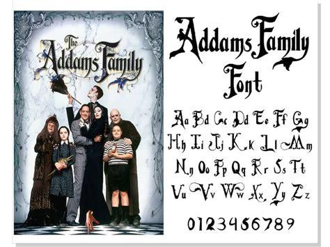 addams family vector font addams family font svg