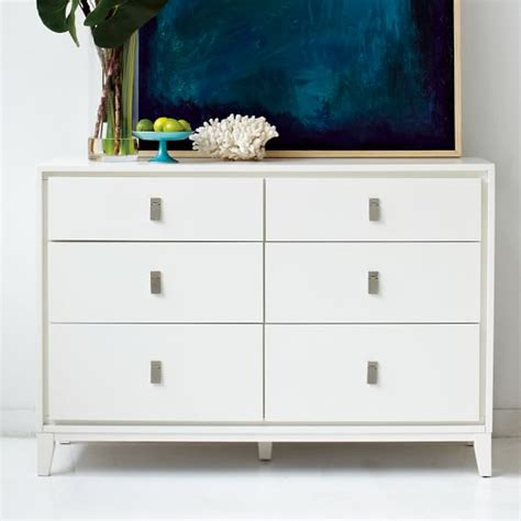 6 Drawer Dresser White by Niche 6 Drawer Dresser White West Elm