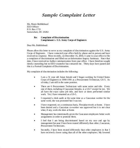 letter  complaint templates