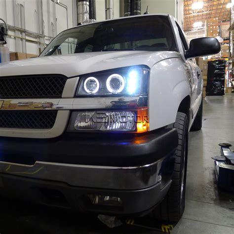 2004 chevy silverado halo lights 2003 2006 chevy silverado halo led projector headlights