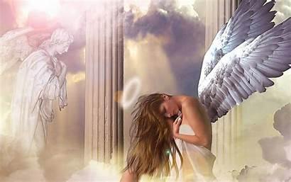Angel Wings Background Angels Wallpapers Praying Desktop