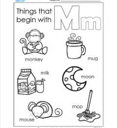 picture of objects starting with letter m images frompo things that begin with a z a wellspring of worksheets 88258