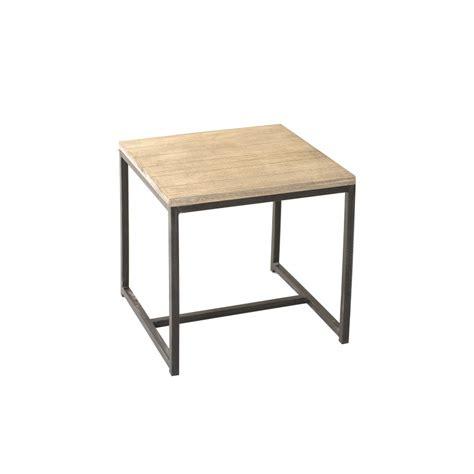 canapé bout de lit bout de canapé carré paulownia meubles macabane