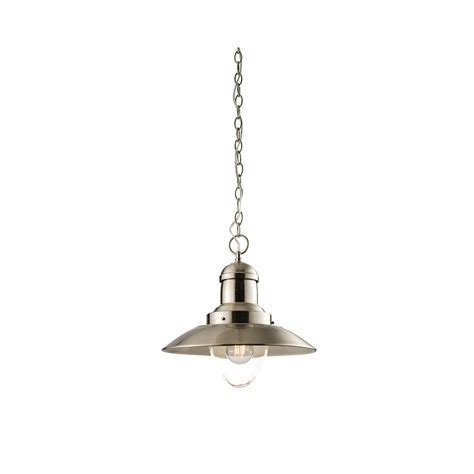 endon mendip vintage ceiling pendant light in satin nickel