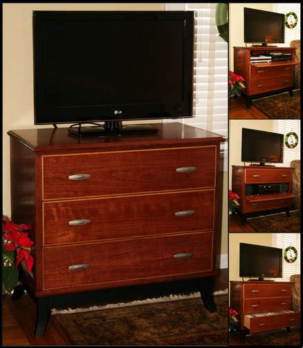 tv stand with dresser drawers cherry tv stand chest of quot drawers quot by nx1992