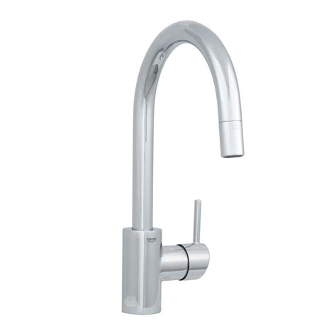 how to install a grohe kitchen faucet grohe concetto single handle pull out sprayer kitchen faucet in starlight chrome 32665001 the