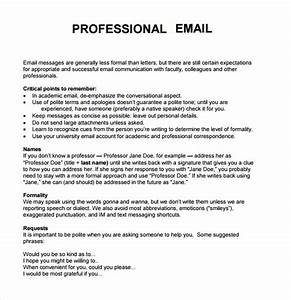 8+ Sample Professional Emails – PDF Sample Templates