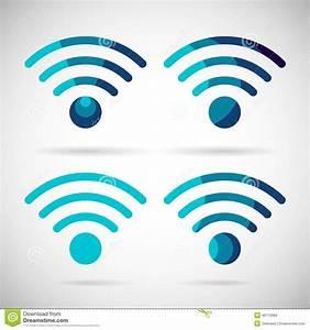 WiFi Icon Wireless Internet Connection Flat Design Stock ...