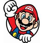 Mario Svg Super Bros Circle Nintendo Arcade