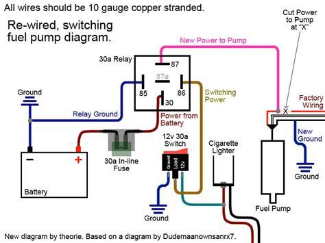 rewire  fuel pump page