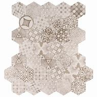 Patternia Hexagon Encaustic 7 in. x 8 in. Gla…