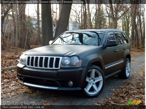 matte grey jeep grand cherokee 2006 jeep grand cherokee srt8 in custom matte black photo