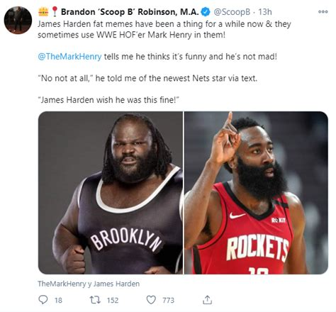 The comparison between James Harden and Mark Henry