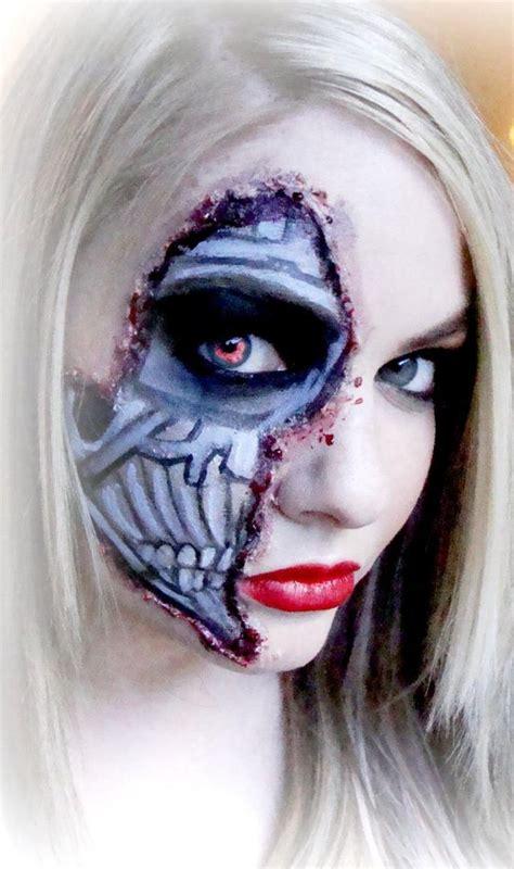 halloween schminke fuer frauen  gruselige makeup ideen