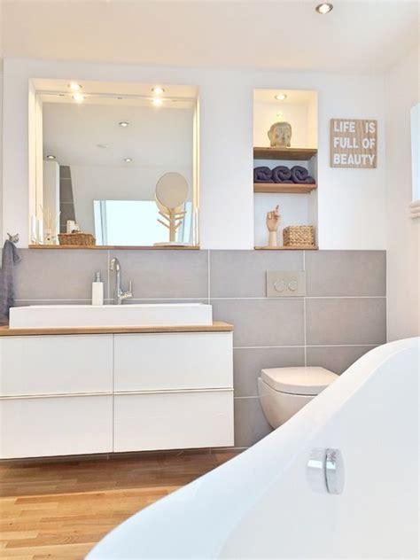 Kleine Badezimmer Modern by Kleines Badezimmer Natuerlich Modern Holz Grau Naturstein