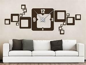 Designer Uhr Wand : wandtattoo quadrat uhr von ~ Michelbontemps.com Haus und Dekorationen