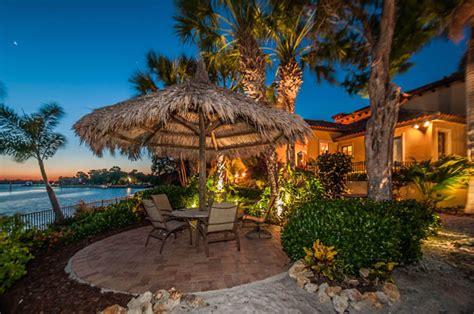 tarpon springs resort inspired home tropical landscape