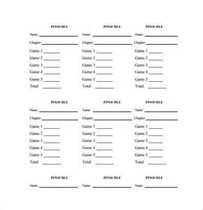sle pinochle score sheet 6 exles format