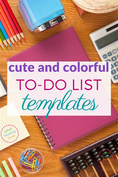 Free To Do List Templates - So Cute and Colorful! | What ...
