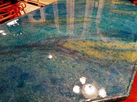 Indoor Outdoor Blue Concrete Countertop Designs   Direct