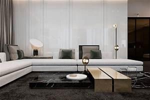 parquet gris fonce combine de marbre noir meubles et With tapis de gym avec grand canape moderne
