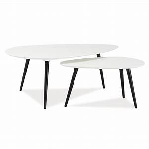 Table Basse Gigogne Scandinave : tables basses gigognes nolan style scandinave ~ Voncanada.com Idées de Décoration