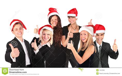 christmas business people group stock image image 7347059