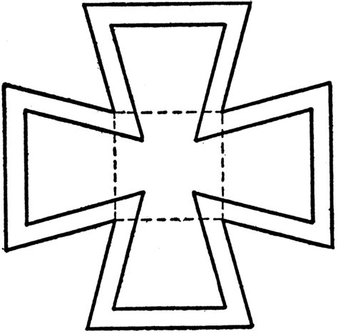 drawing maltese cross   square spacers