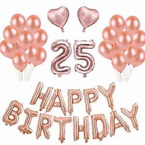 Décoration Anniversaire 25 Ans : kit anniversaire 25 ans ballons rose gold ~ Melissatoandfro.com Idées de Décoration