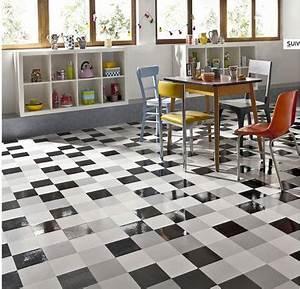 Revetement Sol Vinyle Clipsable : revetement de sol vinyle pour la cuisine city mat gloss ~ Premium-room.com Idées de Décoration