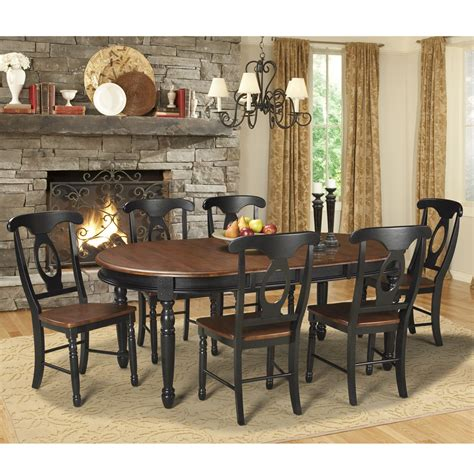 wood dining table with leaves isles wood oval dining table in oak black 9259