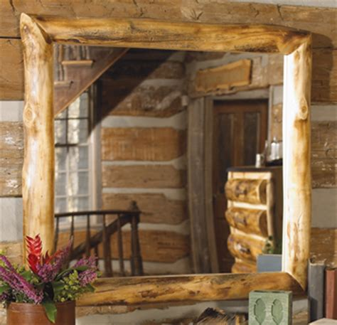aspen log furniture elk antler aspen log mirrorblack