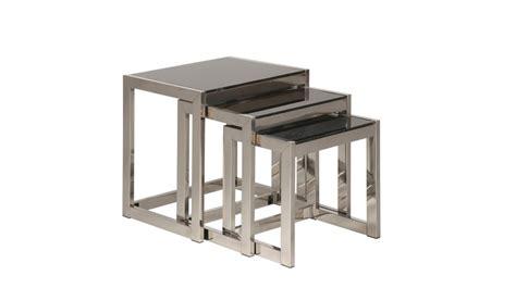 table de salle a manger design pas cher table de salle a manger en verre pas cher 7 de tables gigognes en inox et verre tremp233 noir