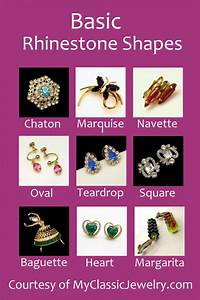 Oval Diamond Measurement Chart Vintage Rhinestones Shapes And Types My Classic Jewelry