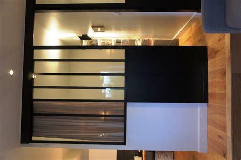 bureau cloison verrière pour séparer une chambre et un salon