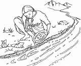 Rush Gold Panning Coloring Pages Mining Clipart Australian Stockade Google Line Drawing Eureka Clip Spot sketch template