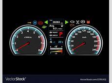Car dash board eps 10 Royalty Free Vector Image