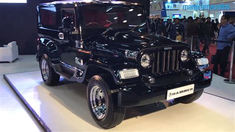 auto expo 2018 mahindra thar customized by dc design is called dc hammer