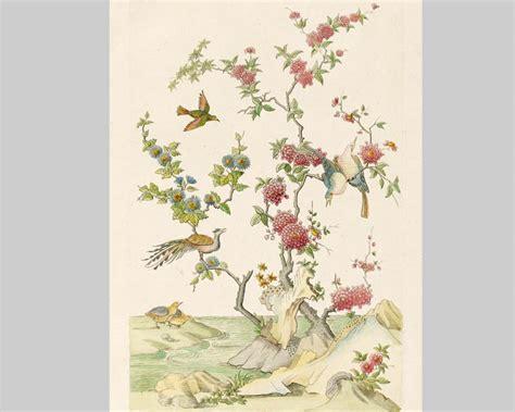 papier peint panoramique dessin d oiseaux chinois