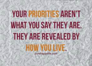 Quotes About Priorities in Life