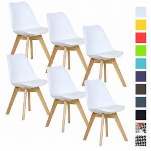 Esszimmerstühle 6 Set : 6er set esszimmerst hle esszimmerstuhl design st hle k chenstuhl wei bh29ws 6 ebay ~ Orissabook.com Haus und Dekorationen