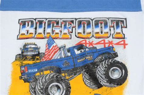 bigfoot monster truck t shirts vintage 1980s bigfoot monster truck blue on white t shirt l
