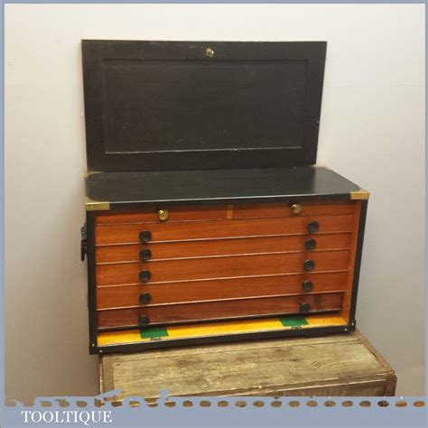 superb vintage pattern makers tool chest   drawers