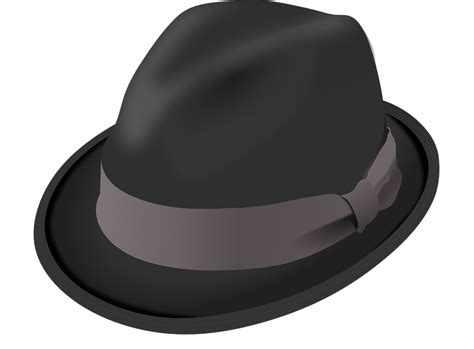 Hat Trilby Black · Free Vector Graphic On Pixabay